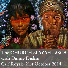 The Church of Ayahuasca salon talk at The Cafe Royal on 21st October 2014. A lecture on shamenistic Psychadelic drug from South America with Danny Diskin