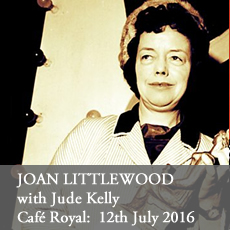 Joan Littlewood at the Cafe Royal