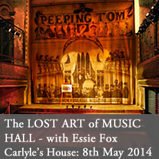 Victorian Music Hall talk with Essie fox at Carlyle's house national trust