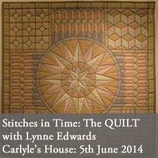 The Quilt talk with lynne edwards MBE carlyle's house nation trust london