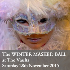 Winter Masked Ball - A Curious Invitation's Christmas party at The Vaults, London. . 30th November 2015.